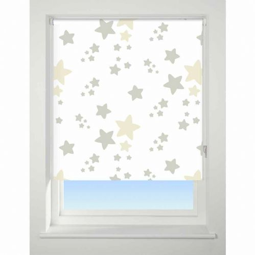 Universal Patterned Blackout Roller Blind - Twinkle Twinkle Neutral